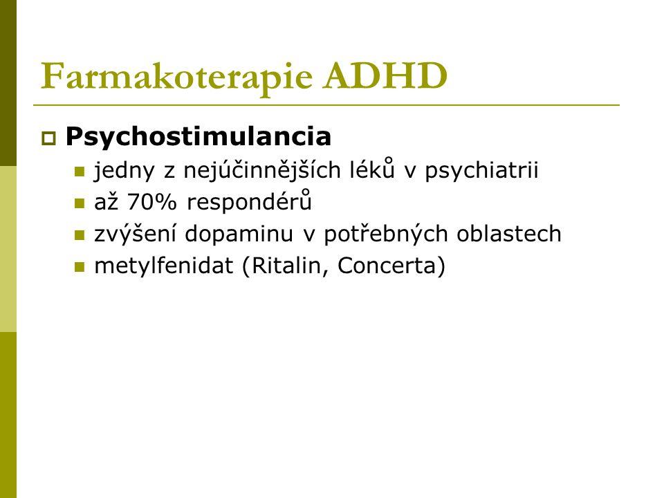 Farmakoterapie ADHD Psychostimulancia