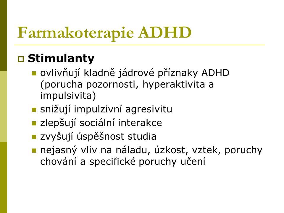 Farmakoterapie ADHD Stimulanty