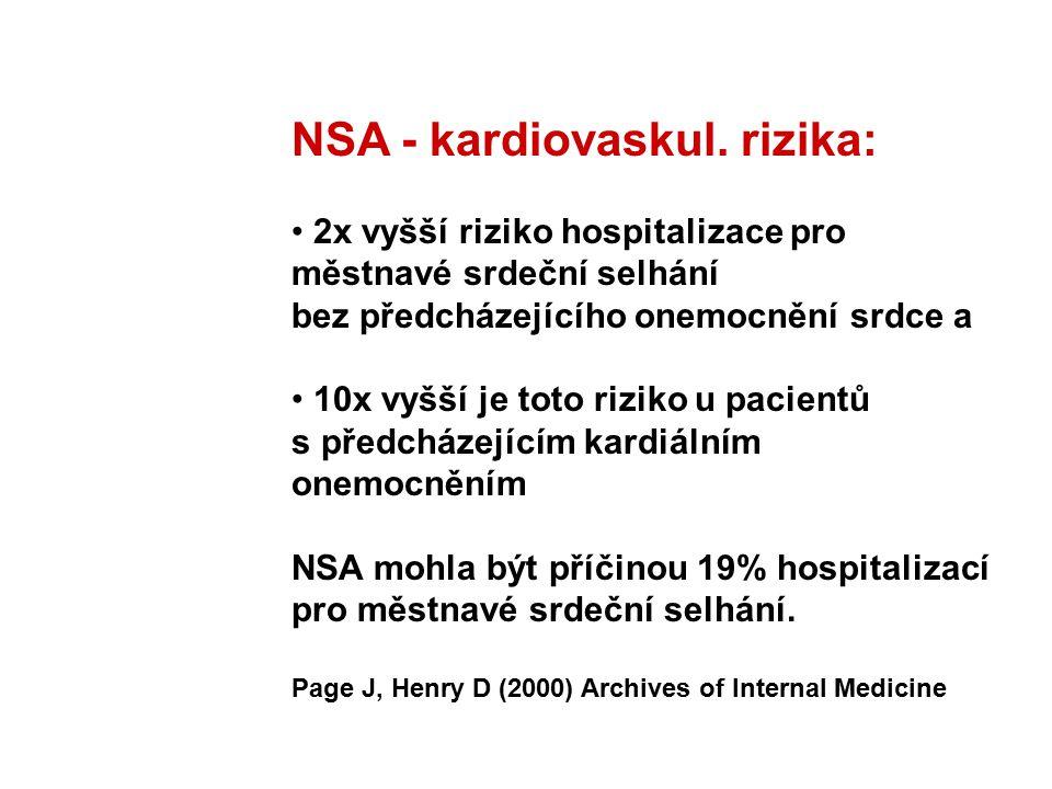 NSA - kardiovaskul. rizika:
