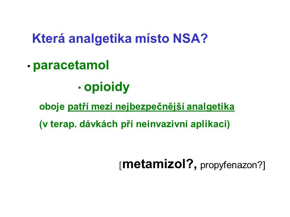 Která analgetika místo NSA