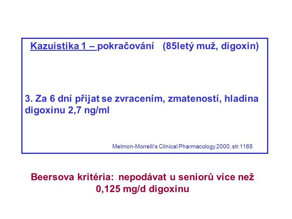 Kazuistika 1 – pokračování (85letý muž, digoxin)