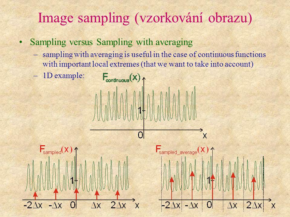Image sampling (vzorkování obrazu)
