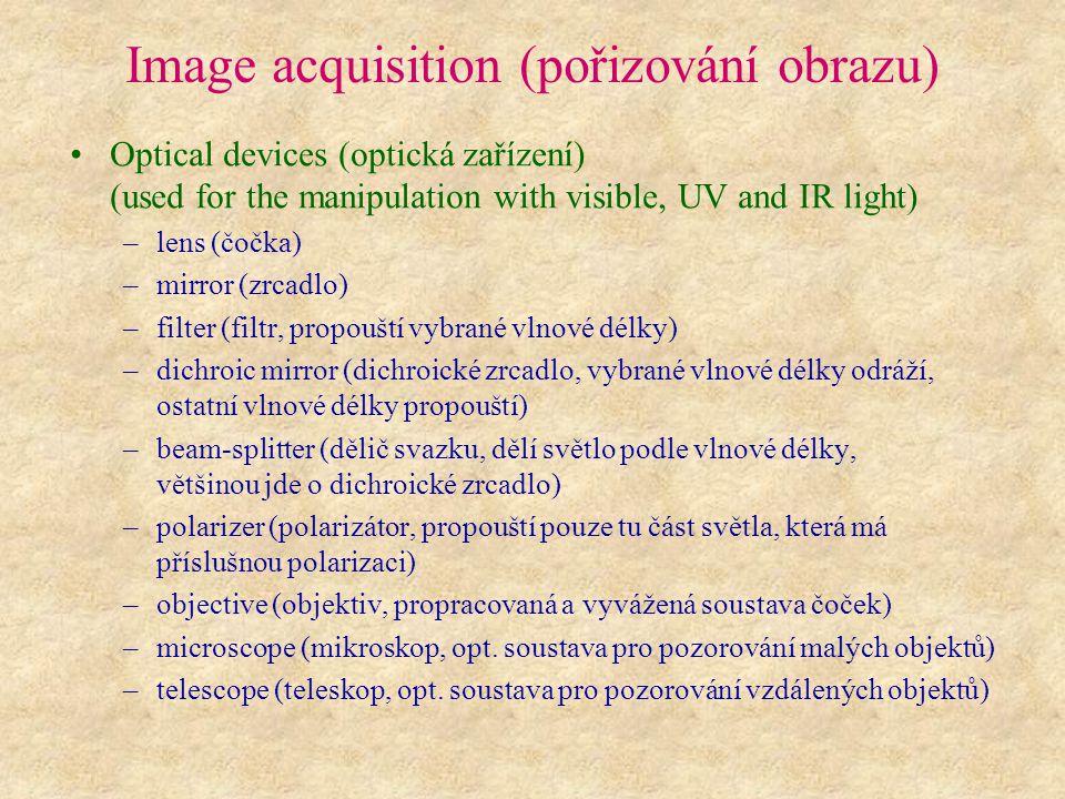 Image acquisition (pořizování obrazu)