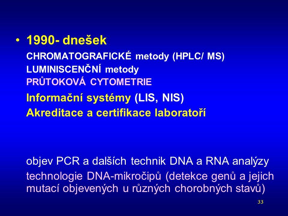 Informační systémy (LIS, NIS)