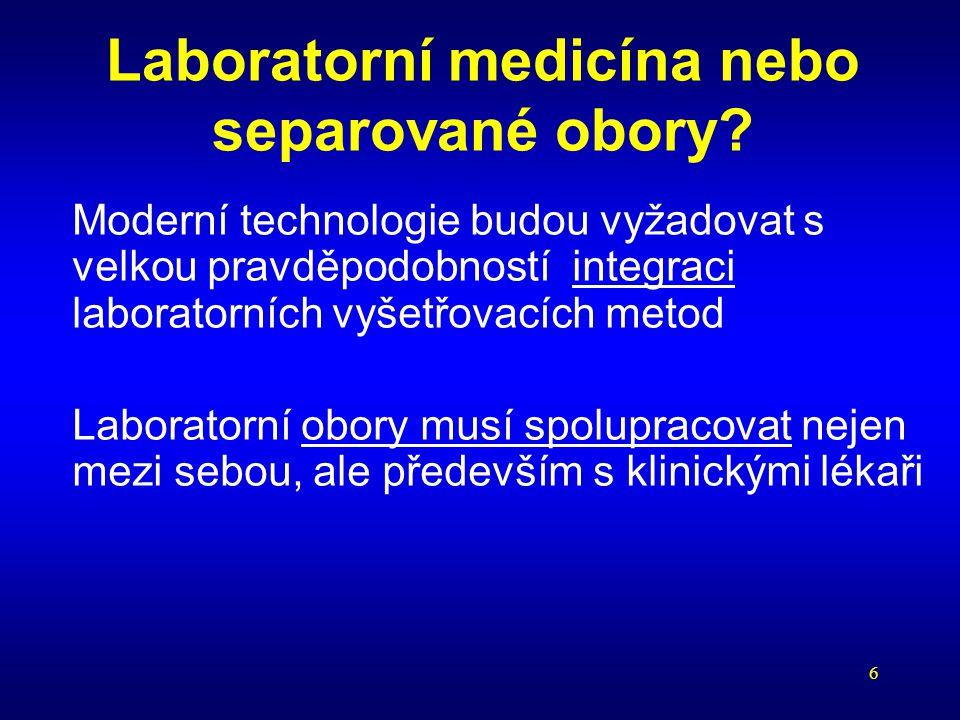 Laboratorní medicína nebo separované obory