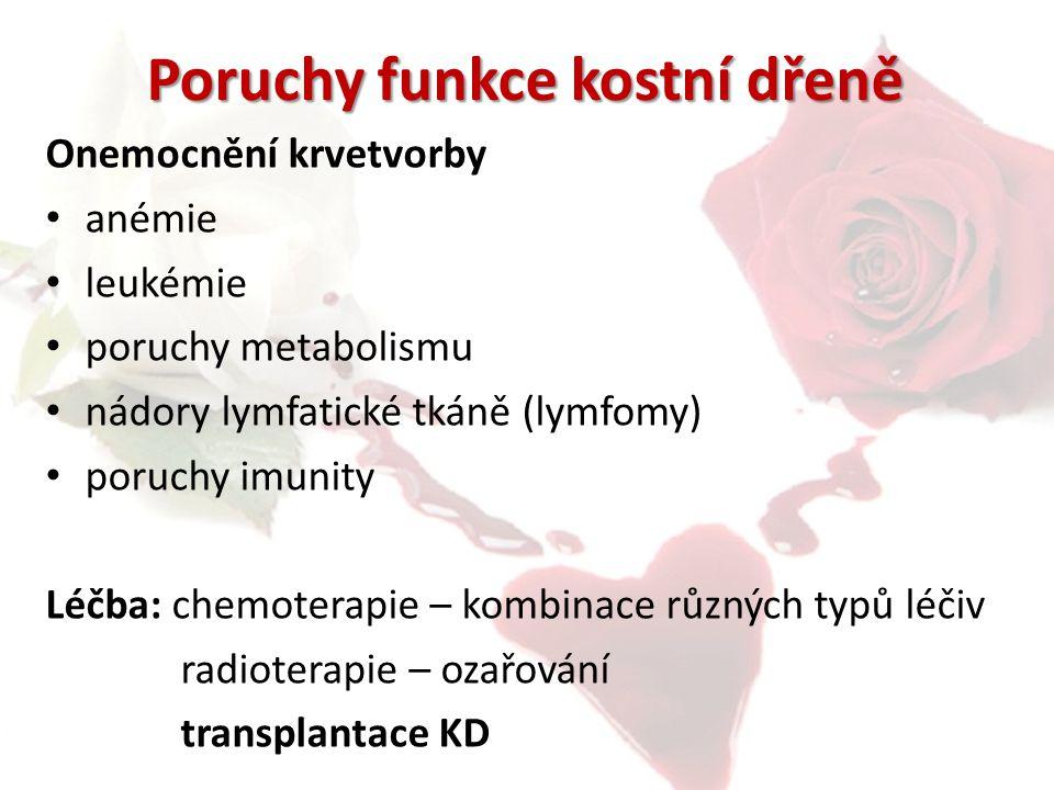 Poruchy funkce kostní dřeně
