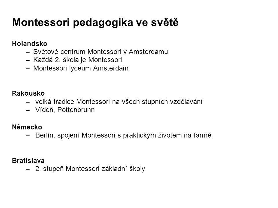 Montessori pedagogika ve světě