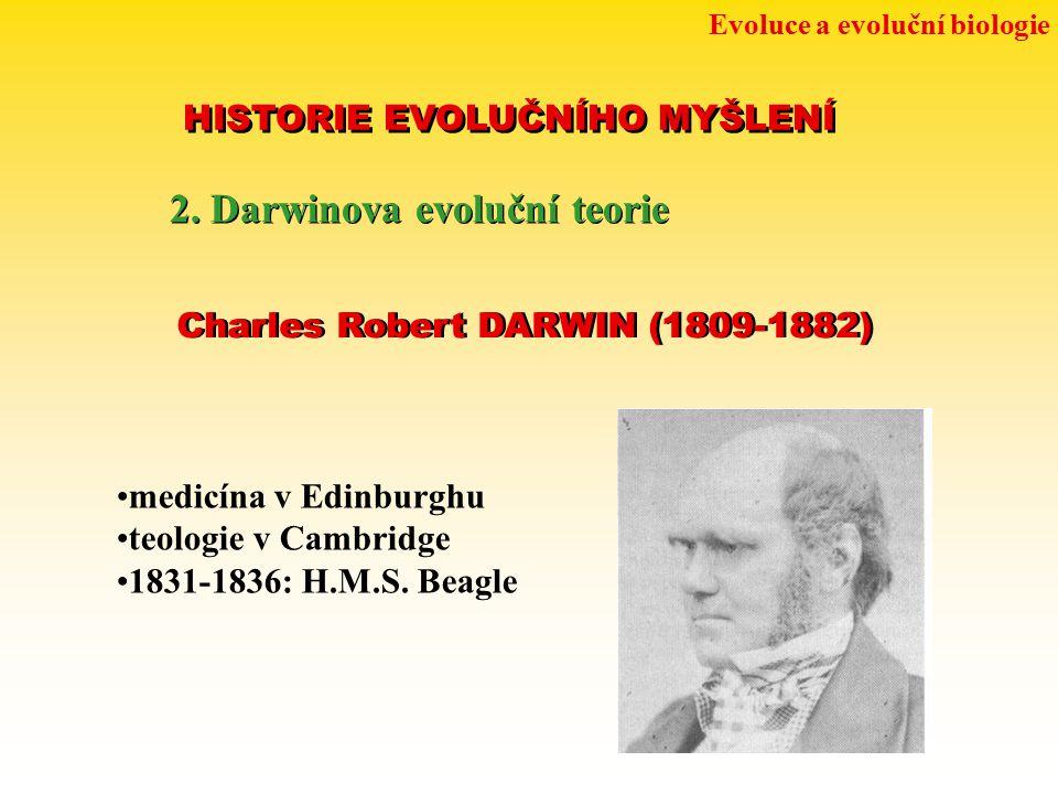 2. Darwinova evoluční teorie