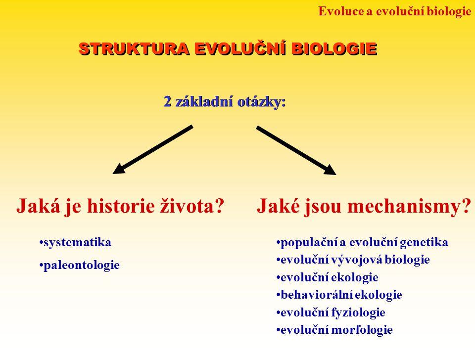 Jaká je historie života Jaké jsou mechanismy