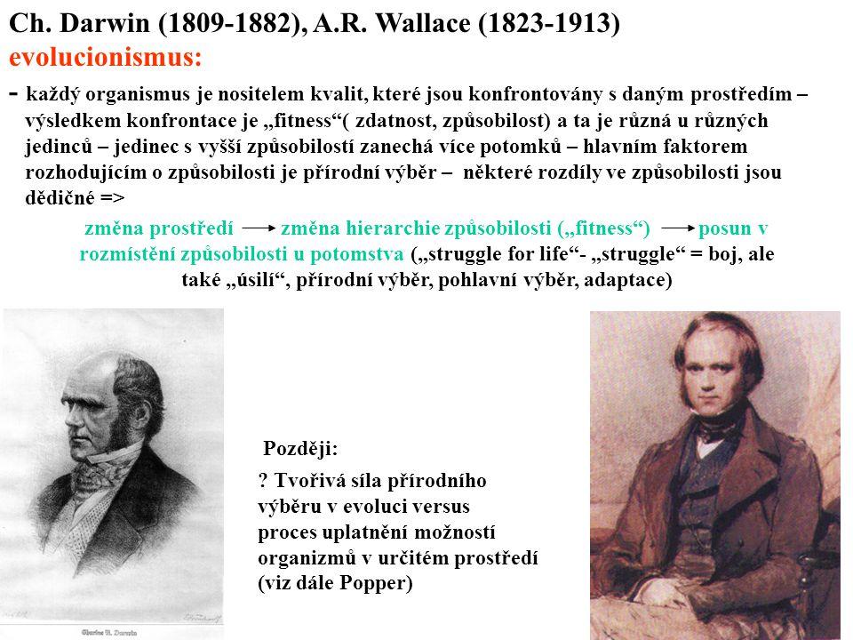 Ch. Darwin (1809-1882), A.R. Wallace (1823-1913) evolucionismus: