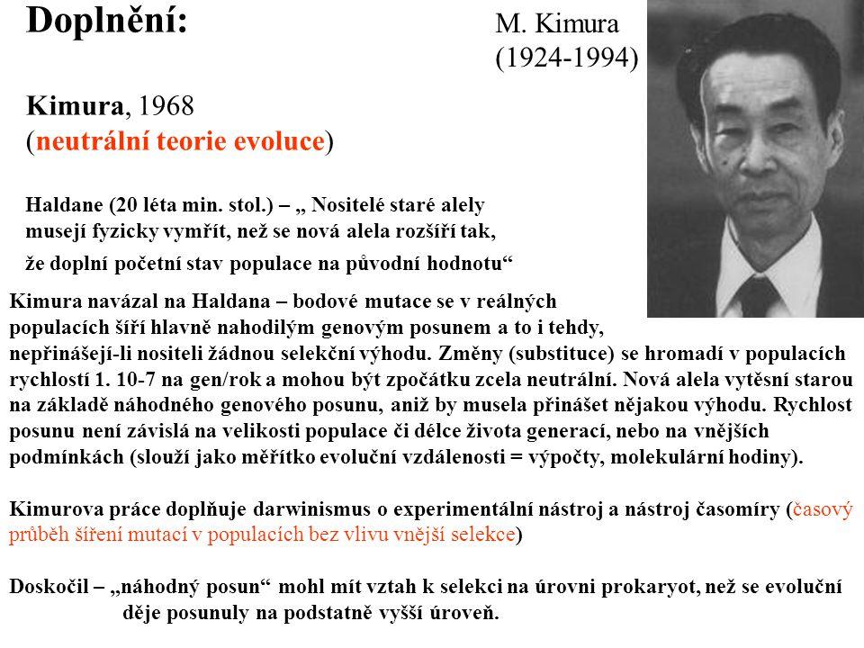 Doplnění: M. Kimura (1924-1994) Kimura, 1968