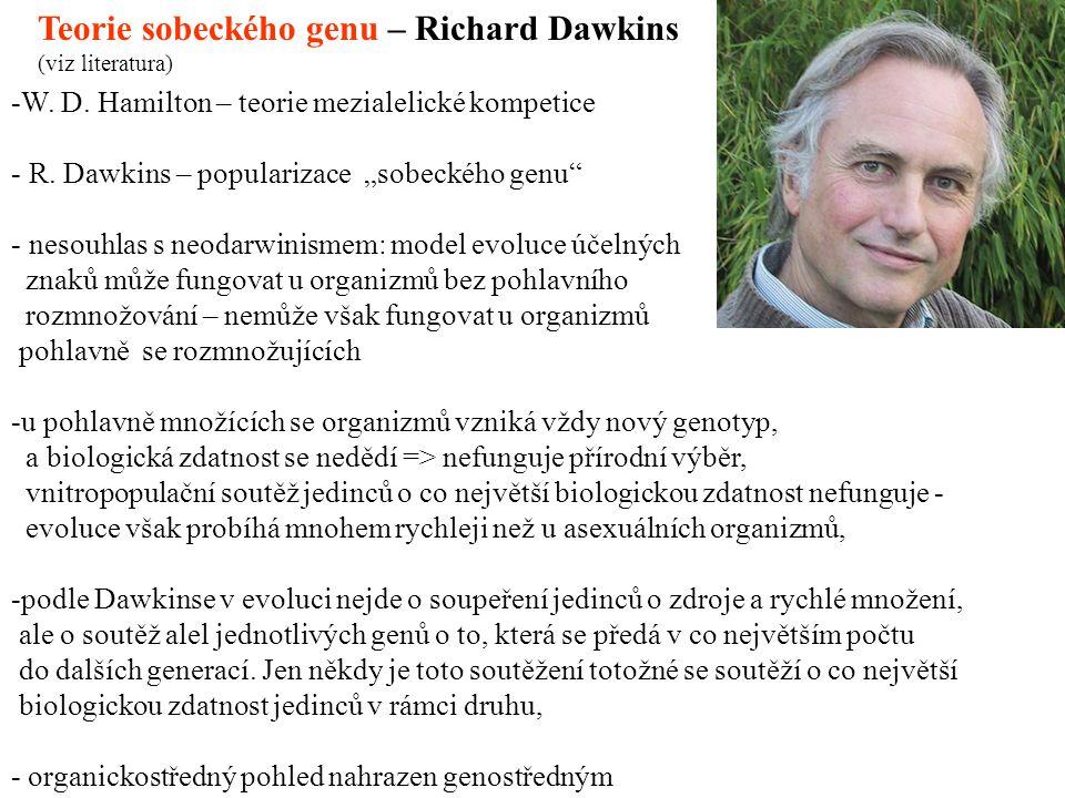 Teorie sobeckého genu – Richard Dawkins