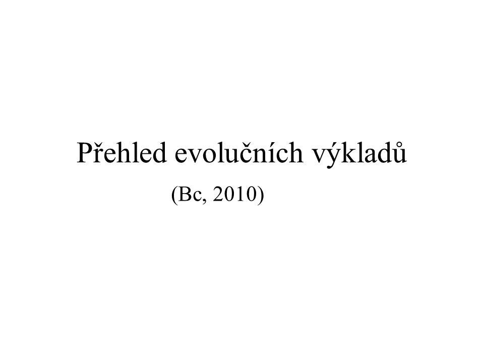 Přehled evolučních výkladů