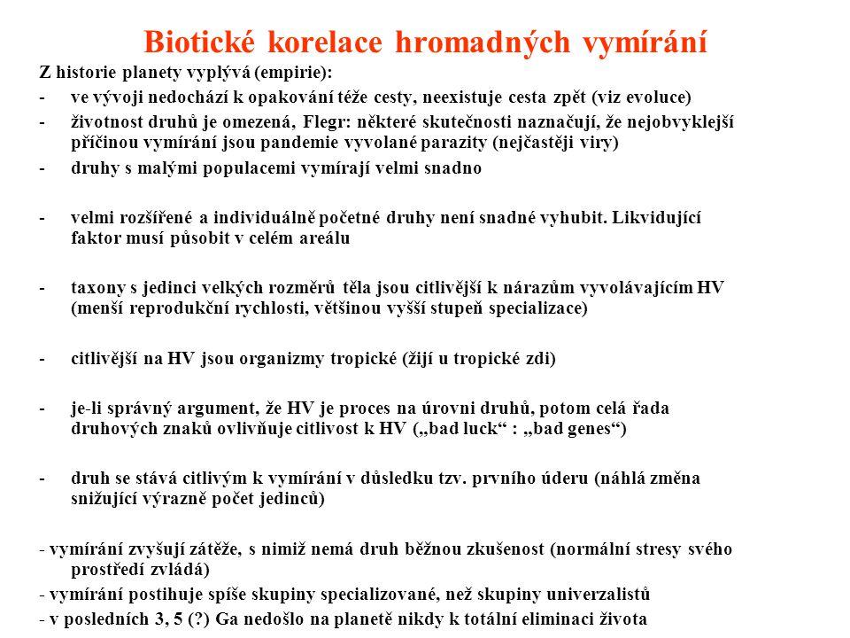 Biotické korelace hromadných vymírání