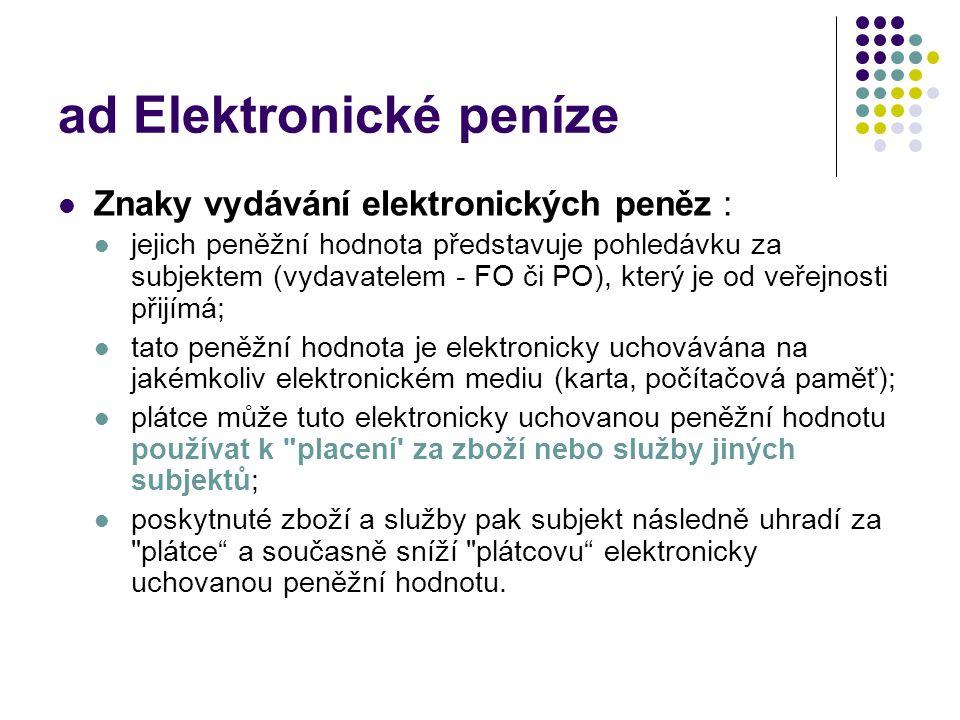 ad Elektronické peníze