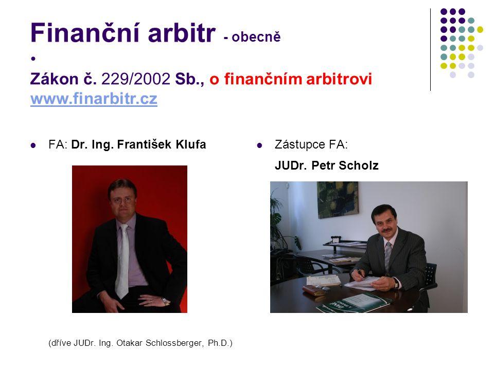 Finanční arbitr - obecně