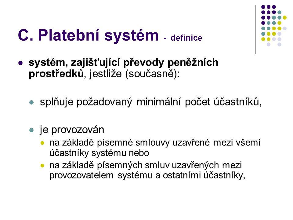C. Platební systém - definice