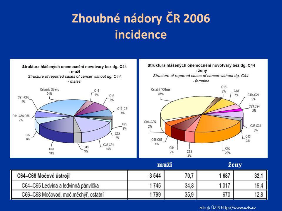 Zhoubné nádory ČR 2006 incidence