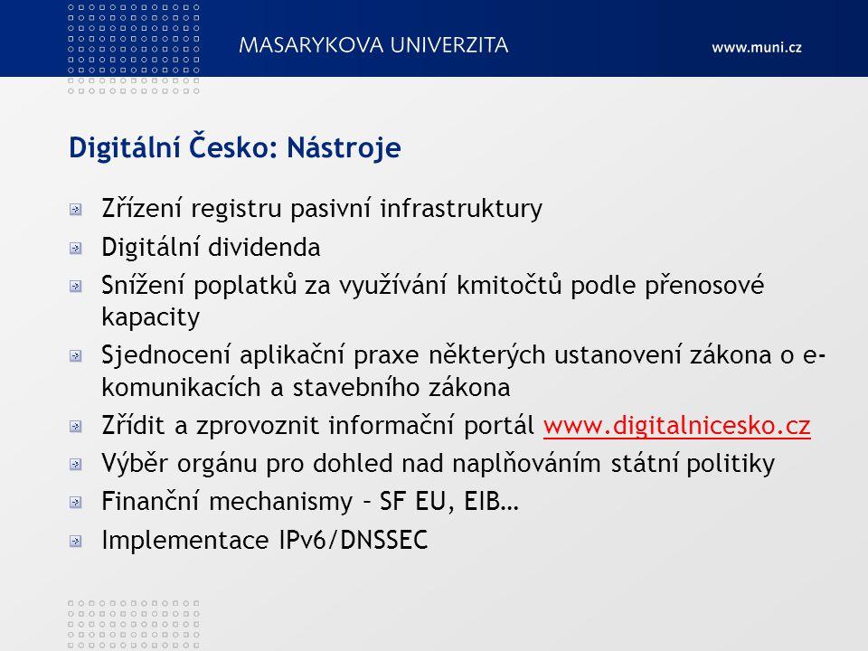 Digitální Česko: Nástroje
