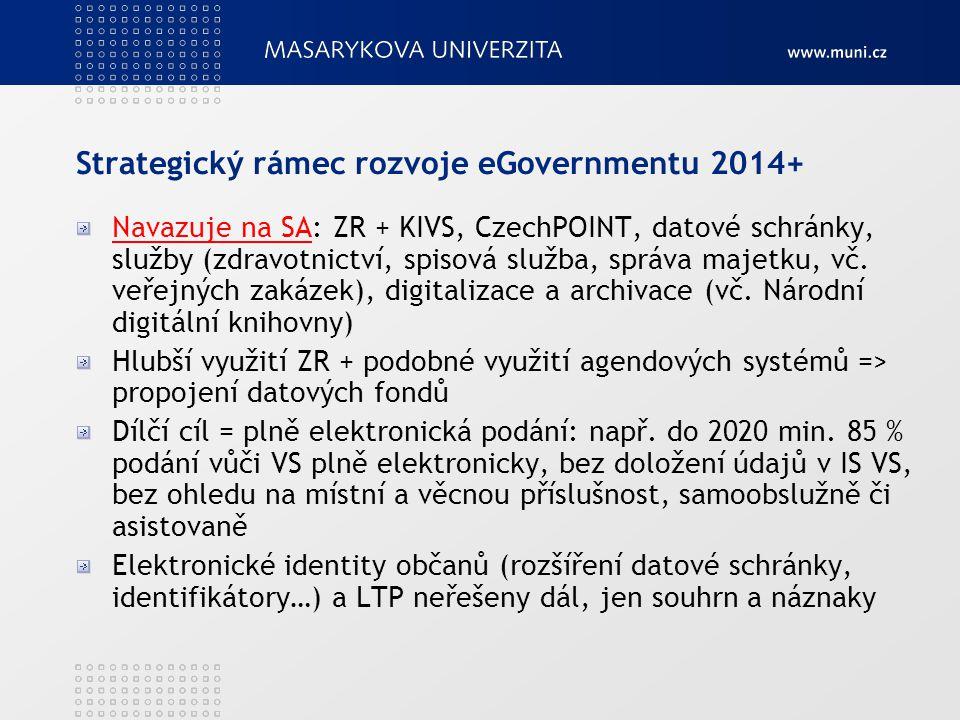 Strategický rámec rozvoje eGovernmentu 2014+