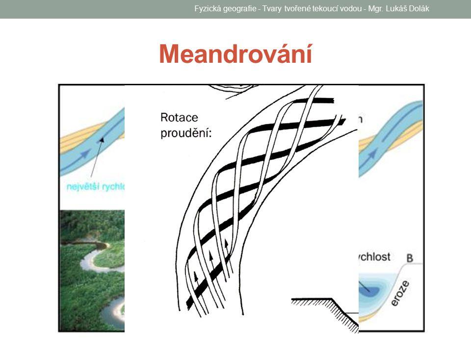 Fyzická geografie - Tvary tvořené tekoucí vodou - Mgr. Lukáš Dolák