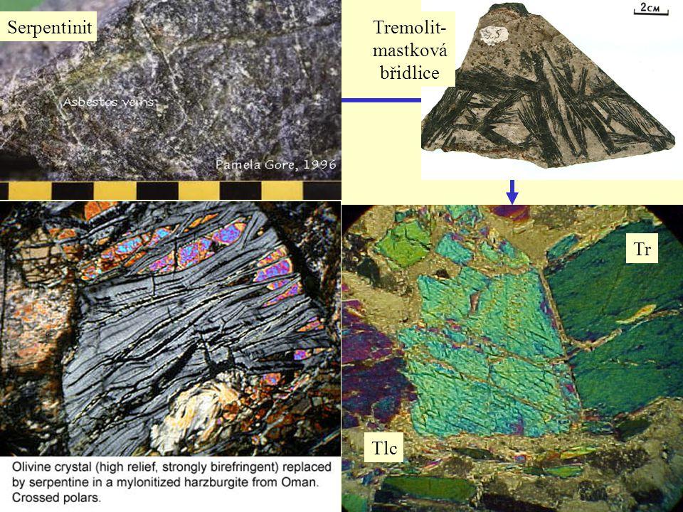 Tremolit- mastková břidlice
