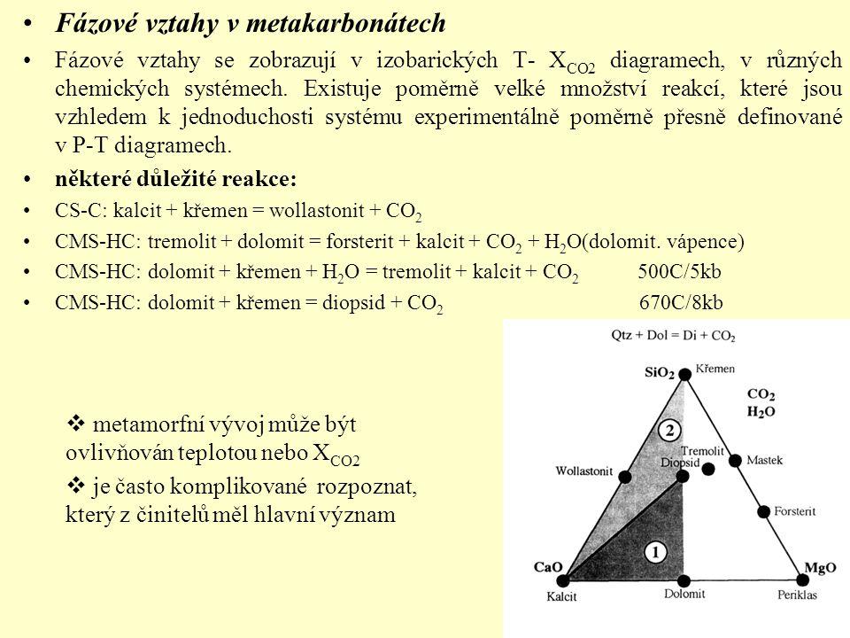 Fázové vztahy v metakarbonátech