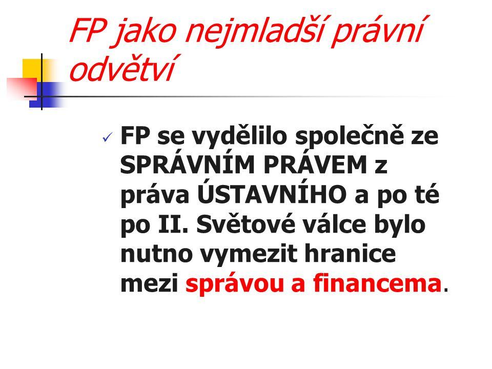 FP jako nejmladší právní odvětví