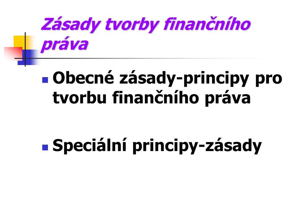 Zásady tvorby finančního práva