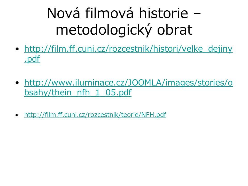Nová filmová historie – metodologický obrat