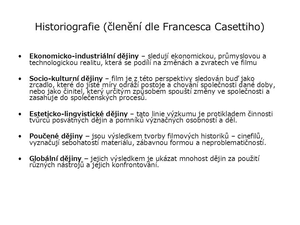 Historiografie (členění dle Francesca Casettiho)
