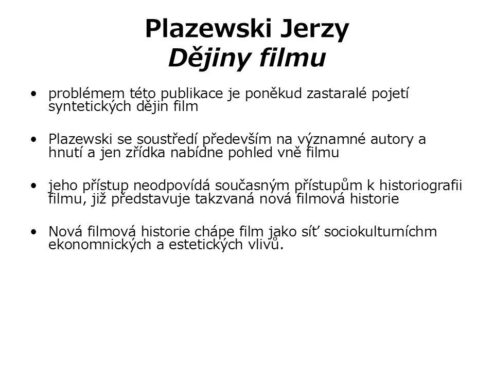Plazewski Jerzy Dějiny filmu