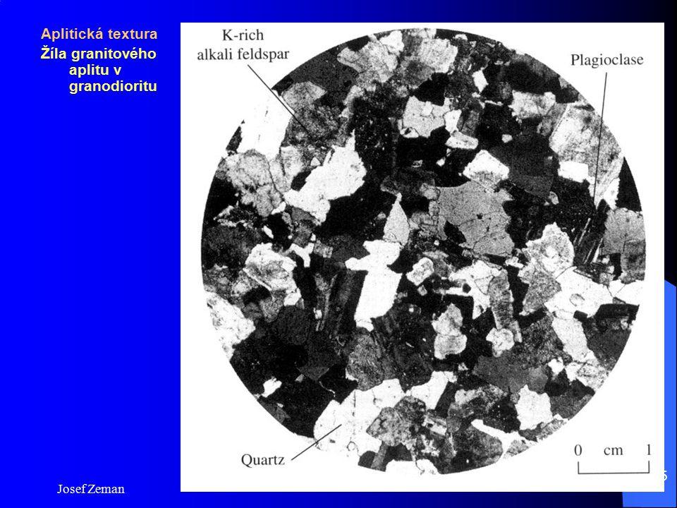 Žíla granitového aplitu v granodioritu