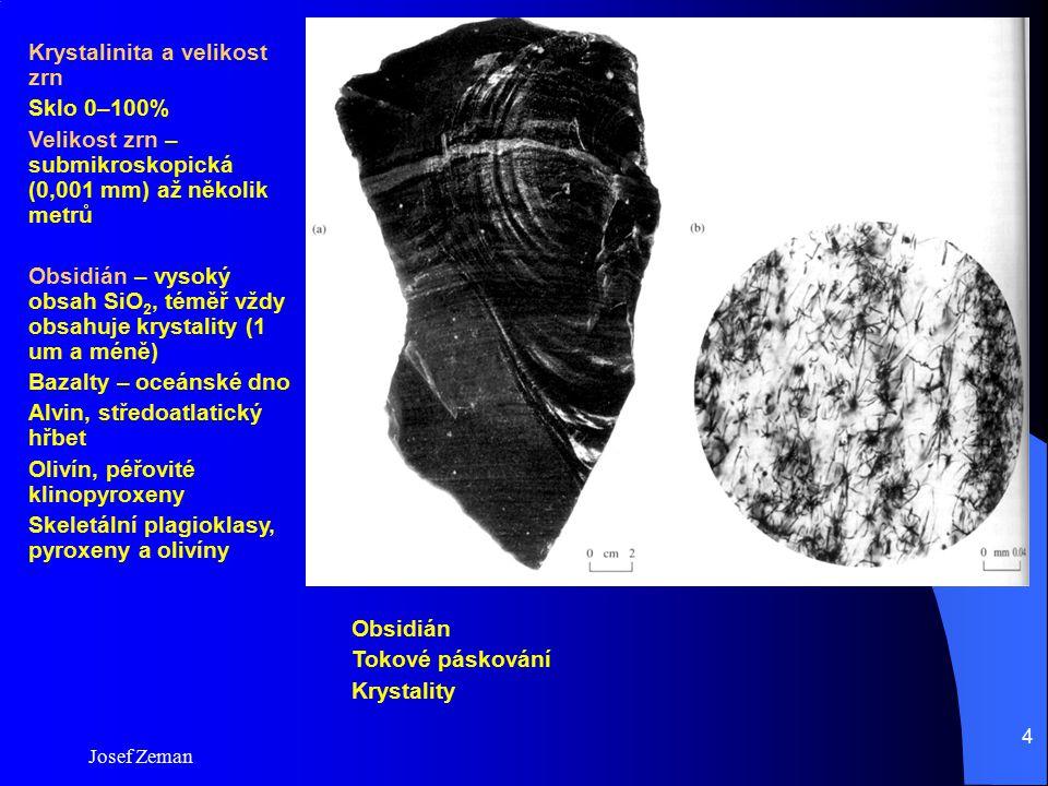 Krystalinita a velikost zrn Sklo 0–100%