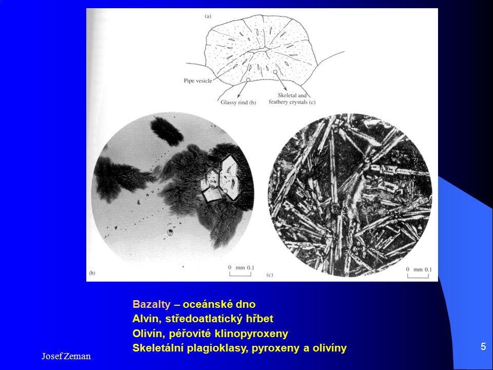 Alvin, středoatlatický hřbet Olivín, péřovité klinopyroxeny