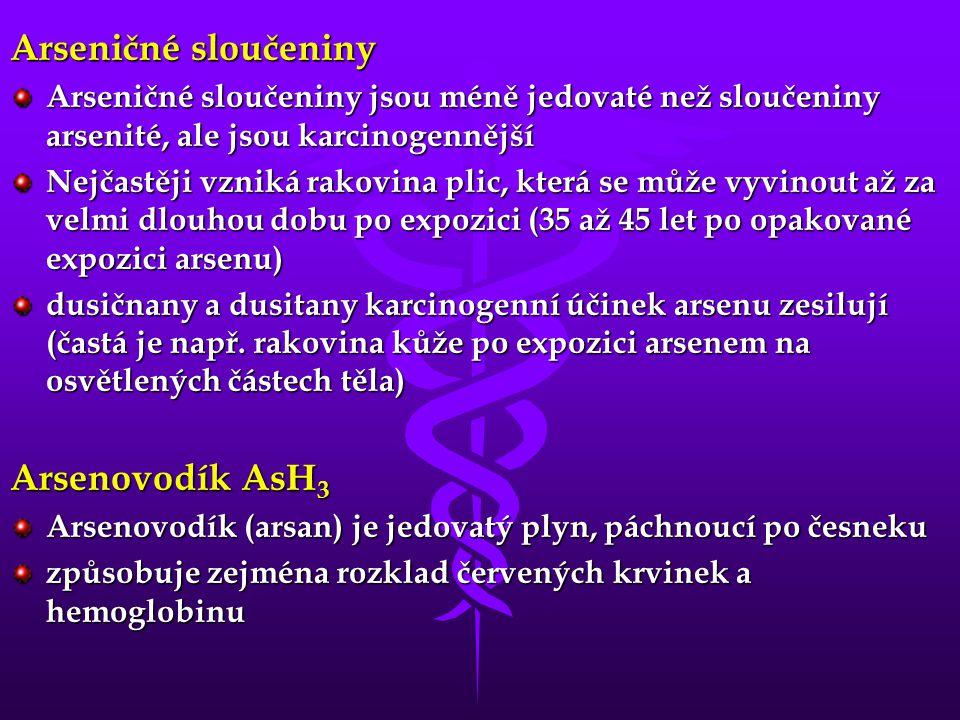 Arseničné sloučeniny Arsenovodík AsH3