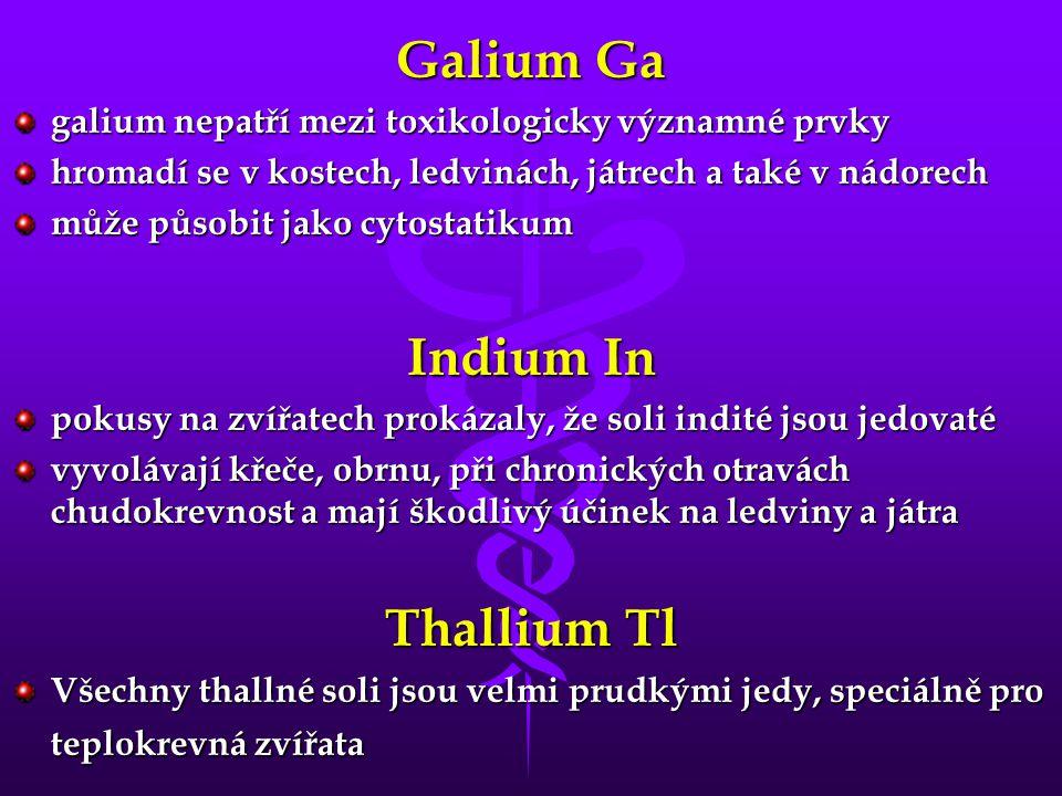 Galium Ga Indium In Thallium Tl