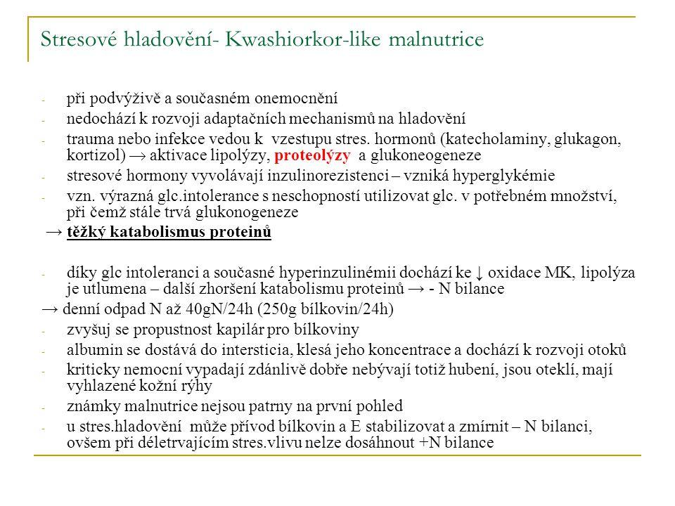 Stresové hladovění- Kwashiorkor-like malnutrice