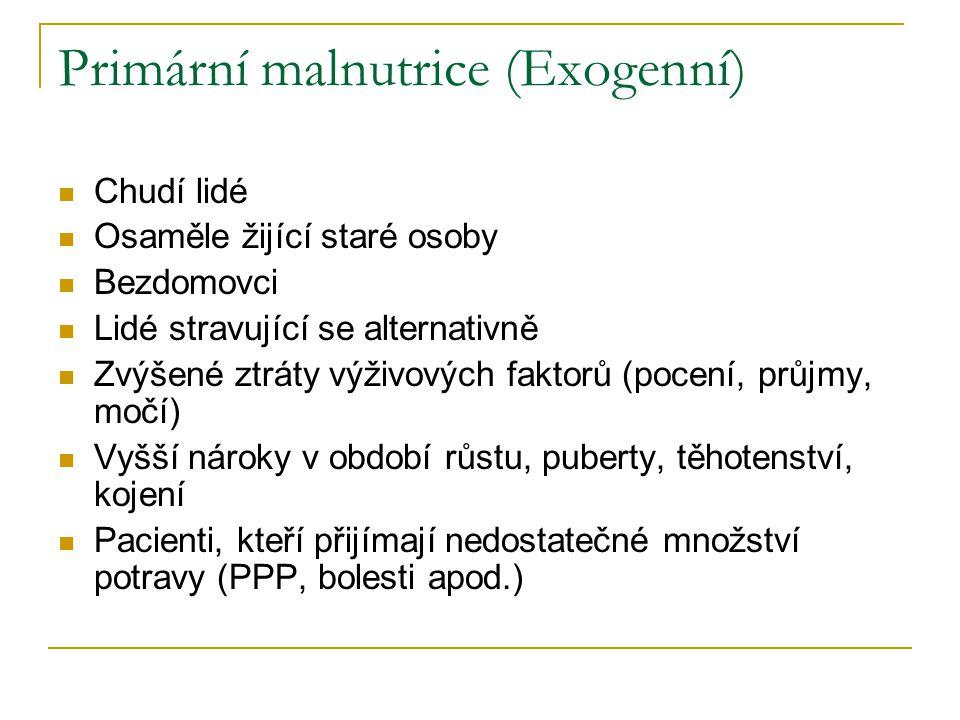 Primární malnutrice (Exogenní)