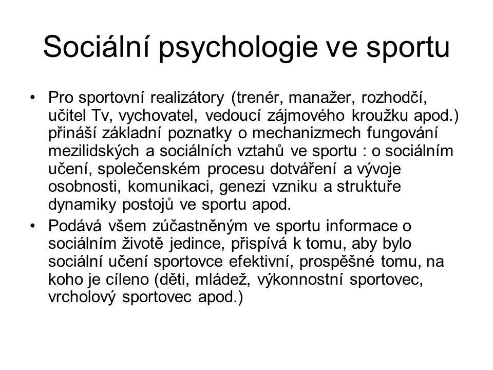 Sociální psychologie ve sportu