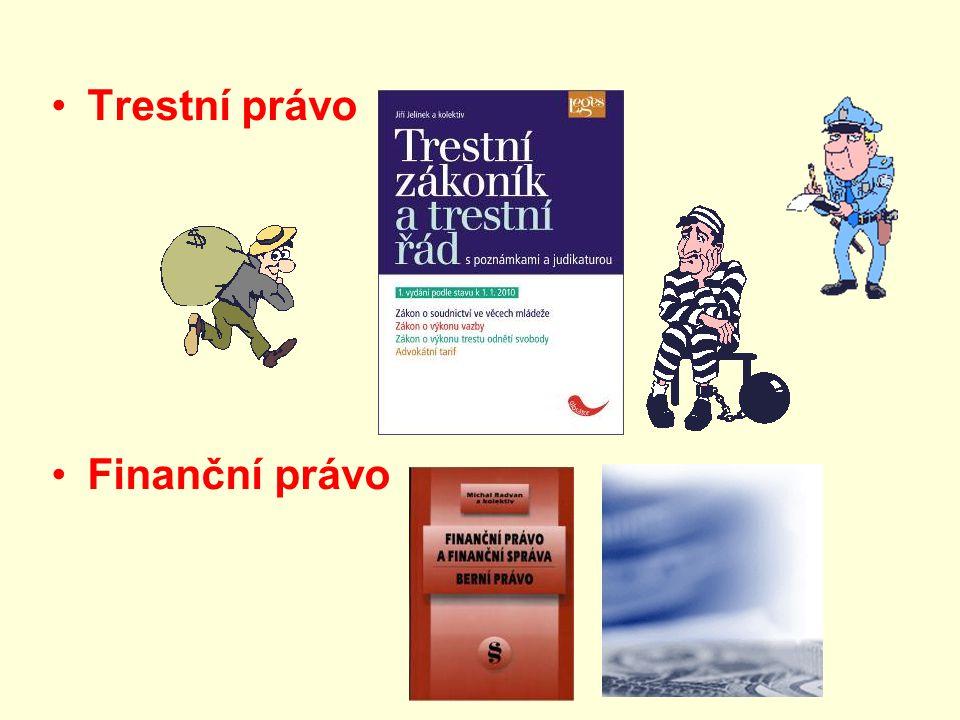 Trestní právo Finanční právo