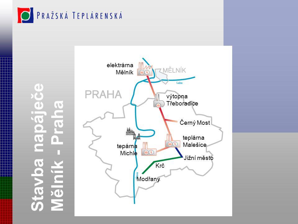 Stavba napáječe Mělník - Praha