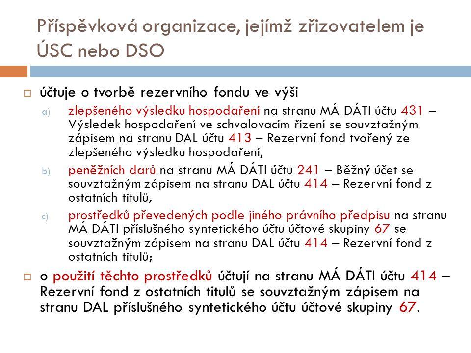 Příspěvková organizace, jejímž zřizovatelem je ÚSC nebo DSO