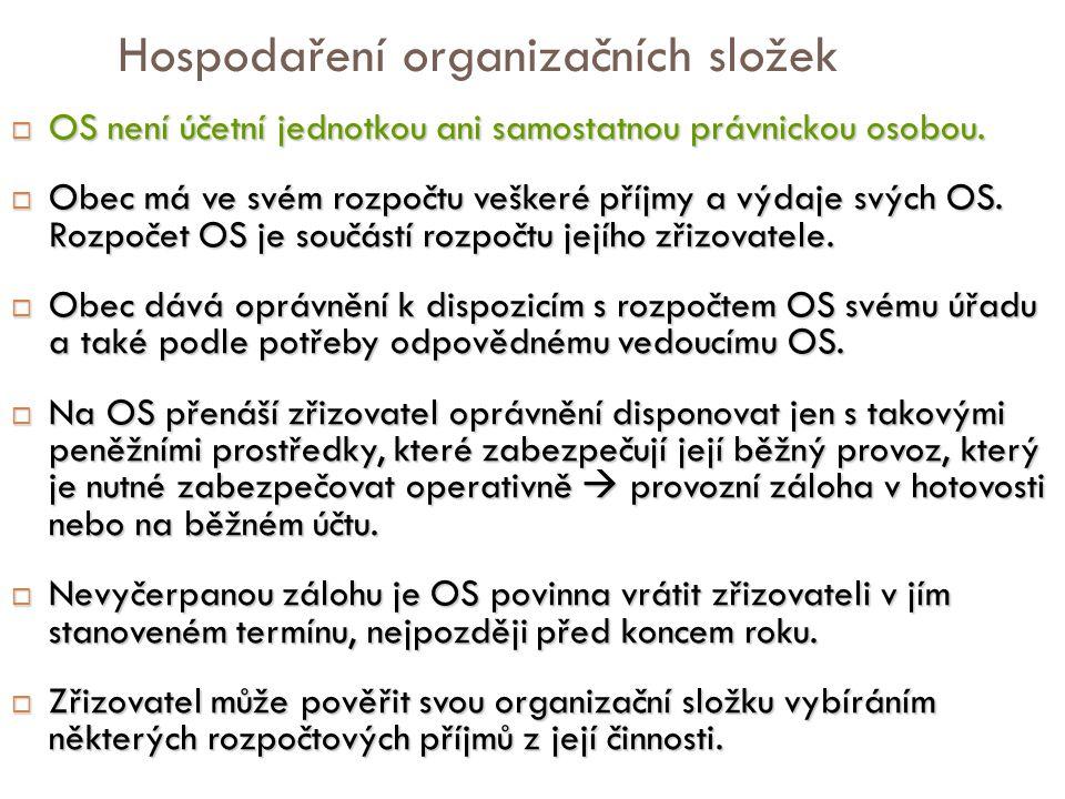 Hospodaření organizačních složek
