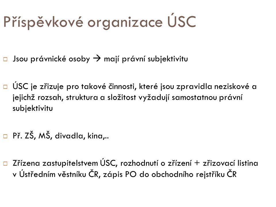 Příspěvkové organizace ÚSC