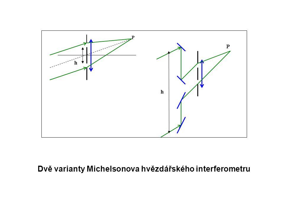 Dvě varianty Michelsonova hvězdářského interferometru
