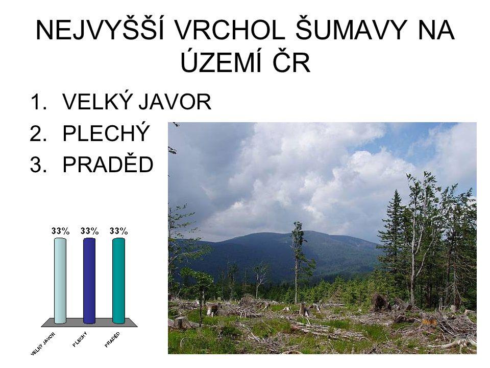 NEJVYŠŠÍ VRCHOL ŠUMAVY NA ÚZEMÍ ČR