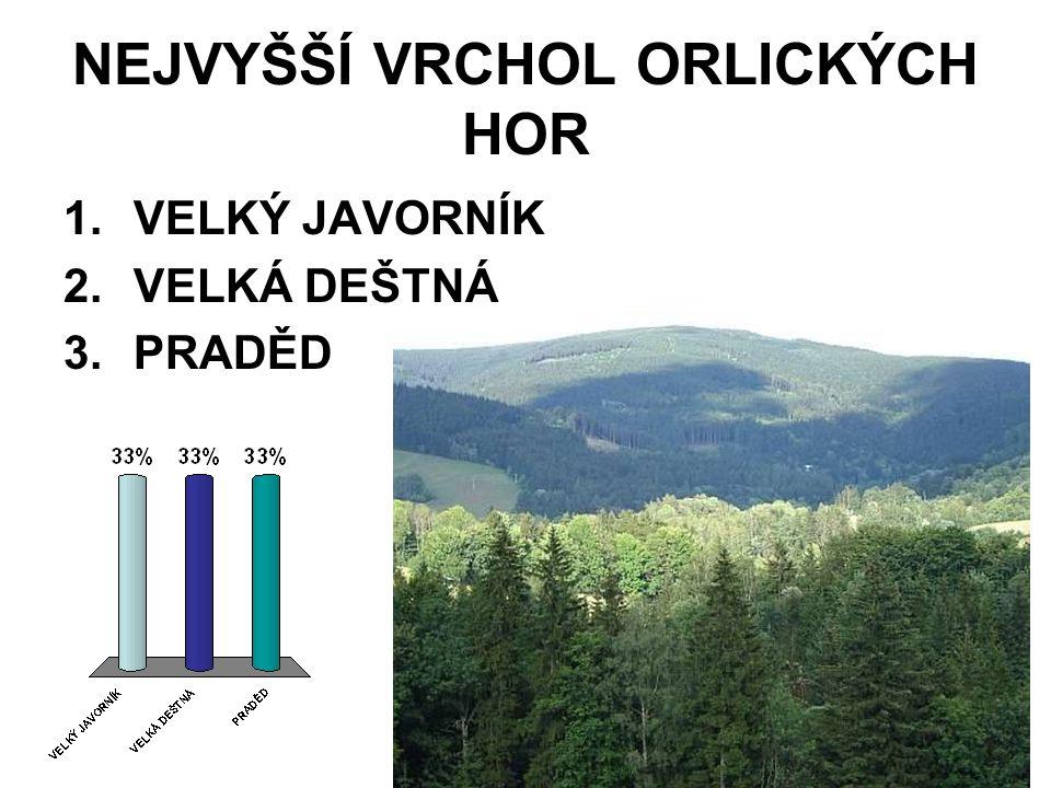 NEJVYŠŠÍ VRCHOL ORLICKÝCH HOR