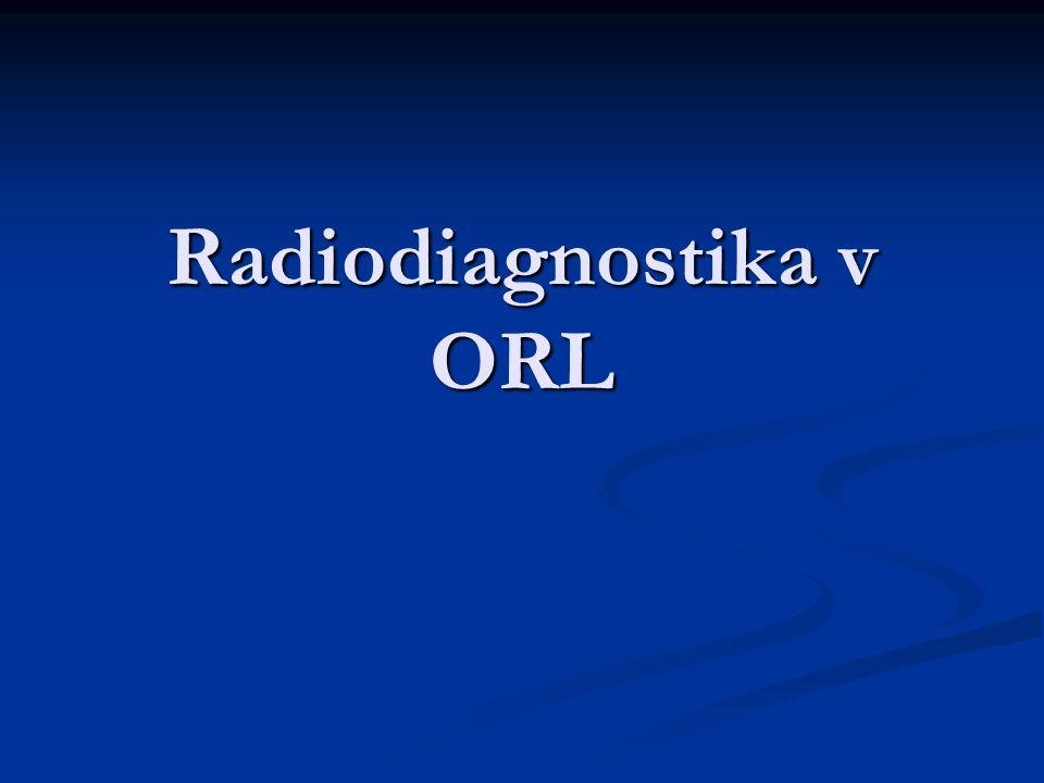 Radiodiagnostika v ORL