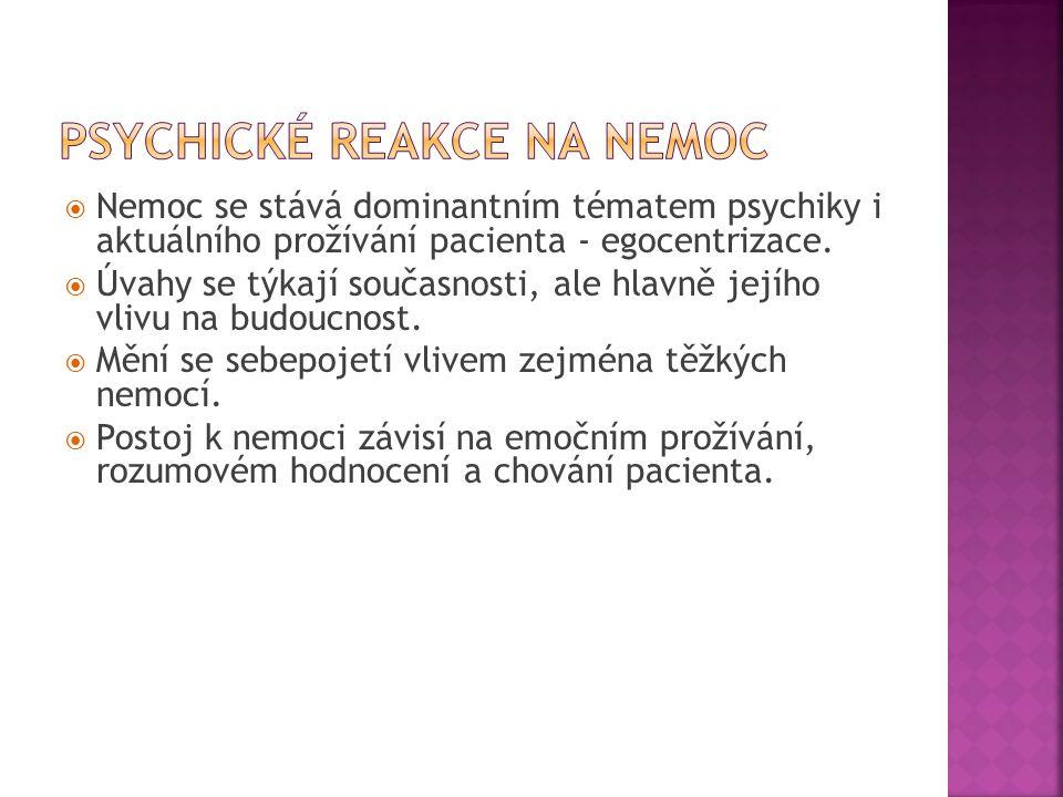 Psychické reakce na nemoc